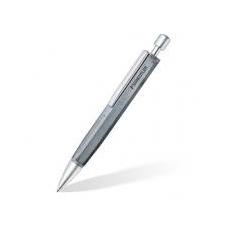 "STAEDTLER Golyóstoll, 0,5 mm, nyomógombos, hatszögletű, beton tolltest, STAEDTLER \""Concrete\"", fekete toll"