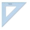 """STAEDTLER Háromszög vonalzó, műanyag, 45°, 25 cm, STAEDTLER """"Mars"""", átlátszó kék"""