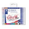 """STAEDTLER Kalligrafikus marker készlet, 2,0/3,5 mm, kétvégű,  """"Calligraph Duo"""", 12 szín"""