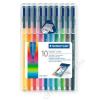 STAEDTLER Rostirón készlet, 1 mm, STAEDTLER Triplus, 10 különböző szín (TS323SB10)