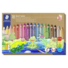 """STAEDTLER Színes ceruza készlet, 3 in 1, hatszögletű, félhosszú, vastag, ajándék hegyezővel és ecsettel, STAEDTLER """"Noris Junior"""", ceruza"""