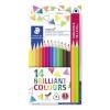 """STAEDTLER Színes ceruza készlet, háromszögletű, ajándék 2 db színes ceruzával, STAEDTLER """"Ergo Soft"""", 14 különböző szín"""