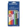 STAEDTLER Színes ceruza készlet, háromszögletű, STAEDTLER Ergo Soft, 12 különböző szín (TS157C12)