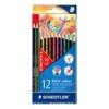 """STAEDTLER Színes ceruza készlet, hatszögletű, STAEDTLER \""""Noris Colour\"""", 10+2 különböző szín [12 db]"""