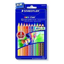 """STAEDTLER Színes ceruza készlet, hatszögletű, vastag, STAEDTLER """"Noris Club"""", 10 különböző szín színes ceruza"""