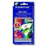 """STAEDTLER Színes ceruza készlet radírral, hatszögletű, STAEDTLER """"Noris Club"""", 12 különböző szín"""