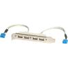StarTech com 4 PORT USB SLOT PLATE ADAPTER