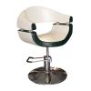 Stella szatén fekete-fehér hidraulikus fodrász szék SX-2107