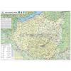 Stiefel A Dél-Dunántúli régió térképe, fémléces