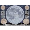 Stiefel A Hold térképe, kétoldalas fémléces