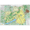 Stiefel A Közép-Dunántúli régió térképe, fémléces falitérkép