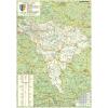 Stiefel Eurocart Kft. Alba megye (Románia) térképe, tűzhető, keretes