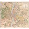 Stiefel Eurocart Kft. Budapest térképe fakeretben (1927)