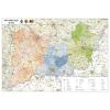 Stiefel Eurocart Kft. Dél-Alföld régió járásainak térképe