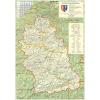 Stiefel Eurocart Kft. Hunyad megye (Románia) térképe, tűzhető, keretes