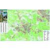 Stiefel Eurocart Kft. Komló térkép tűzhető,keretezett