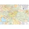 Stiefel Eurocart Kft. Közép-Európa vasúti térképe, tűzhető, keretes