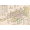 Stiefel Eurocart Kft. Pécs Szabad Királyi város belsőségének térképe fakeretben (1926)