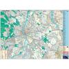 Stiefel Falitérkép, 100x140 cm, fémléces, Budapest térképe és utcajegyzéke, STIEFEL