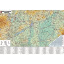 Stiefel Falitérkép, 100x140 cm, fémléces, Magyarország autótérképe, STIEFEL térkép