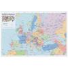 Stiefel Falitérkép, 70x100 cm, fémléces, Európa országai, STIEFEL