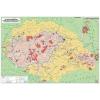 Stiefel Könyökalátét, kétoldalas, Magyarország néprajzi térkép