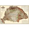 Stiefel Magyarország erdészeti térképe keretezett, tűzhető