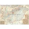 Stiefel Magyarország rovásírás térképe keretezett, tűzhető