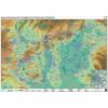 Stiefel Magyarország természetvédelmi térképe - Stiefel