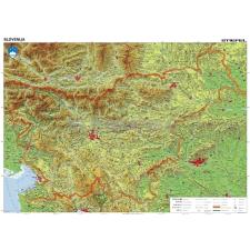 Stiefel Szlovénia domborzata falitérkép térkép