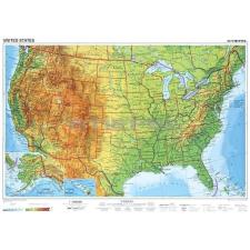 Stiefel USA domborzata térkép
