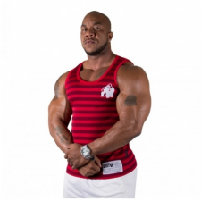 STRIPE STRETCH TANK TOP (RED) [2XL/3XL] férfi edzőruha