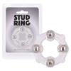 Stud Ring - gyöngyös péniszgyűrű (áttetsző)
