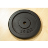 Súlytárcsa súlyzóhoz 15 kg fekete öntöttvas