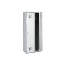 Sum 420 W hosszúajtós öltözőszekrény (2 ajtós, lábazaton álló, osztott munkavédelem