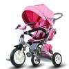 SUN BABY Little Tiger Tricikli felfújható kerekekkel - Rózsaszín melange