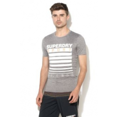 Superdry , Athletic Fit sportpóló, Melange szürke, M (SD0APM10001WQF100000-YFM-M)