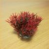 Sűrű vöröses-zöldes levélzetű akváriumi palás műnövény (11 cm)