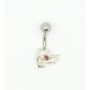Svarovski kristályokkal díszített köldök piercing. Delfin.