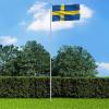 Svéd zászló alumíniumrúddal 6 m