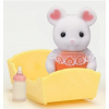 Sylvanian Families Baby Marshmallow egér kiegészítőkkel