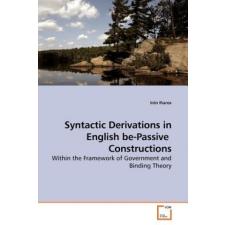 Syntactic Derivations in English Be-Passive Constructions – Irén Iharos idegen nyelvű könyv