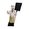 Szakács-táblával/178 cm/bajuszos