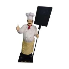 Szakács-táblával/178 cm/bajuszos üzletberendezés, dekoráció