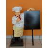 Szakács-táblával/ 75 cm/fehér inges-bajusz nélküli