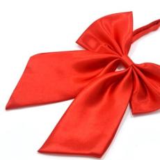 Szatén nõi csokornyakkendõ - Piros