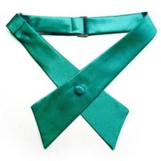 Szatén nõi kereszt nyakkendõ - Zöld