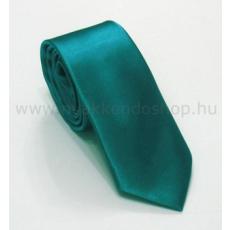 Szatén slim nyakkendõ - Tûrkízzöld