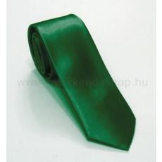 Szatén slim nyakkendõ - Zöld