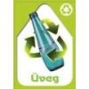 Szelektív hulladékgyűjtő matrica (üveg,A6)